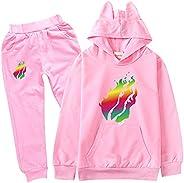 JIAQUN Prestonplayz Youtuber Kids Hoodie + Pant Set Boys Girls Pullover Sweatshirts Hooded Tracksuit Preston P