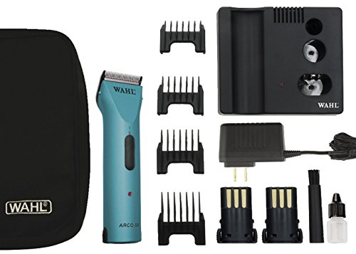 Wahl Professional Animal Powerful Motor ARCO Cordless Clipper Kit #45 Blade with bonus Blade Brush included (Turquoise) by Wahl