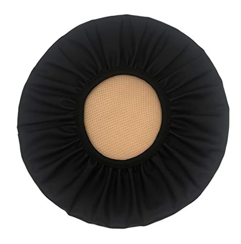 Augld Round Bar Stool Cover Watedrproof Faux Leather Stool Slipcover 14 Inch Black (Round Barstools)