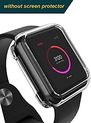 brand new 502f8 9a0fa for Apple Watch Series 4 2018 Edition 44mm Clear Soft Bumper Case Protector  Cover