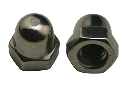 Amanaote 304 Stainless Steel Standard Type M4 Dome Nuts Blind Nuts Cap Nuts(Pack Of 15)