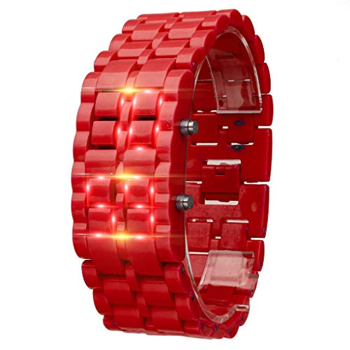TIFENNY New Iron Samurai Metal Bracelet Watch LED Digital Watches Hour Men Women Stylish Sport Wrist Watch