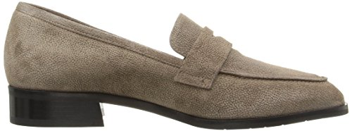 Aquatalia Women's Sharon Pebbled Suede Slip-On Loafer Taupe d1bMG