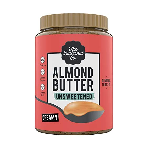 The Butternut Co. Almond Butter Unsweetened, Creamy 1KG (No Added Sugar, Vegan, High Protein, Keto)