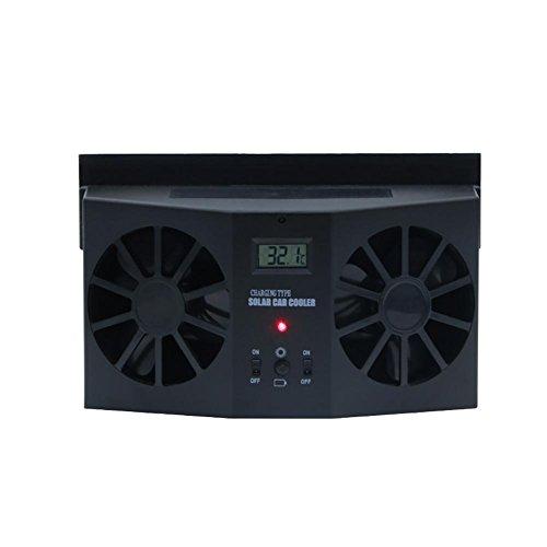 Solar Powered Car Window Air Vent Ventilator Window Air Vent Cool Cooler Fan Windshield Fan, Suitable for All Cars - Solar Car Air