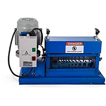 Electric Comercial 370W Φ1.5mm-38mm Cable Wire Stripping Machine w//11 Channels