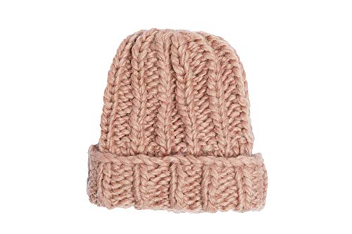 - Hand Knit Soft Merino Wool Boho Beanie Hat Skull Cap for Men and Women Tan