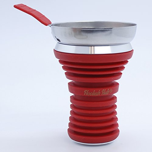 Red Hookha Hub Silicone Shisha Bowl, Wind Screen, food grade quality.Apple on top hookah head / Metal Coal Screen … by Hookah Hub