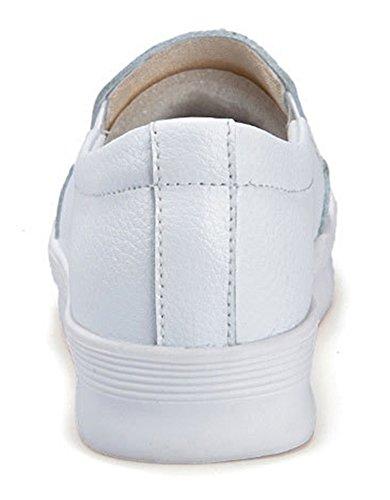 Couleur Femme Aisun Baskets Mode Unie Bout Classique Rond qX4dwr48x