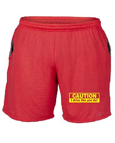 Do I shirtshock Caution You Drive T Tuta Pantaloncini Fun0967 Rosso Car 1 17461 Like vYqRxC