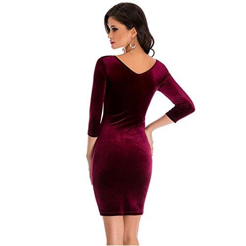 Carolina Dress Vestidos De Fiesta Sexys Cortos Ropa De Moda Para Mujer y Noche Elegante Casuales Rojos VE0071 at Amazon Womens Clothing store: