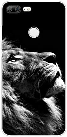 Aksuo for Huawei Honor 9 lite H/ülle Silikon TPU Silikonh/ülle Handyh/ülle Kratzfest Durchsichtige Stylisch Muster Design Robust Leicht Passgenau Case Angry Lion