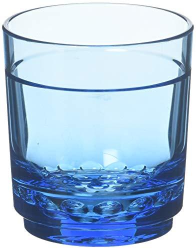 Drinique ELT-SR-BLU-4 Elite Shooter Unbreakable Tritan Drinking Glasses, 7 oz (Set of 4), Blue
