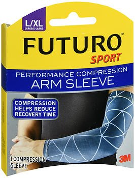 Futuro Sport Performance Compression Arm Sleeve Large/X-Large - 1 ea, Pack of 4 by Futuro