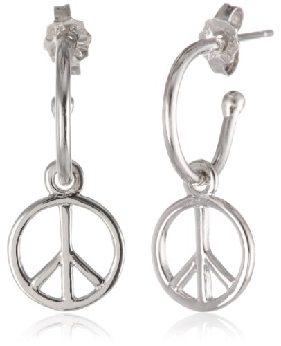 Sterling Silver Peace Earrings Diameter
