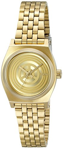 Nixon Women's A399SW-2378-00 Small Time Teller SW, C-3PO Gold' Quartz Stainless Steel Casual Watch