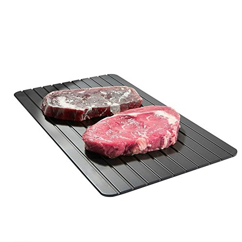 Aureate Black Defrost Tray The Quickest and Safest Way to Thaw Meat and Frozen Food by Aureate