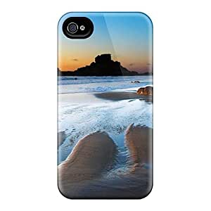Slim Fit Tpu Protector Shock Absorbent Bumper S Sea Sunrise Case For Iphone 4/4s