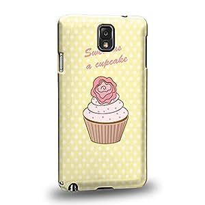 Case88 Premium Designs Sweet As a Cupcake Yellow 0803 Carcasa/Funda dura para el Samsung Galaxy Note 3