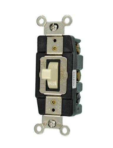 - Leviton 1288-I 30-Amp 120/277-Volt Toggle Double-Pole AC Quiet Switch, Ivory