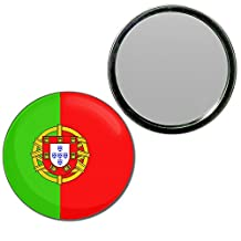 Portugal Flag - 77mm Round Compact Handbag Mirror