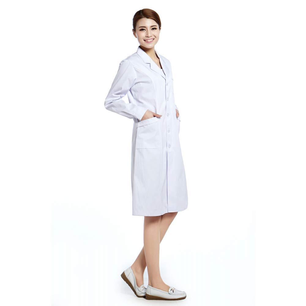 ESENHUANG Lab Coat Tallas Hospital Doctor Clothing Hot: Amazon.es: Ropa y accesorios
