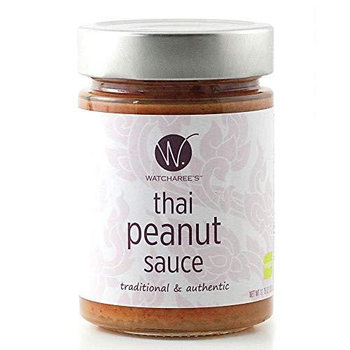 - Watcharee's Thai Peanut Sauce | Authentic Traditional Thai Recipe | (Vegan) 11.75 Oz Jar