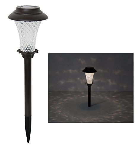 Outdoor Solar Path Light with Texture Glass-6pk