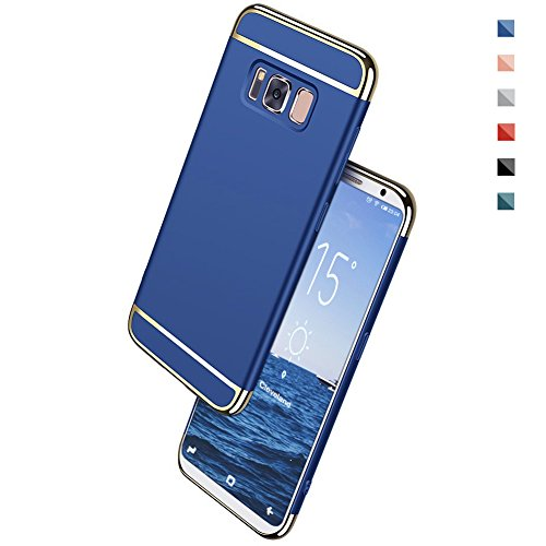 Galaxy S8 Case, NAISU Galaxy S8 Back Cover, Ultra Slim & Rugged Fit Shock Drop Proof Impact Resist Protective Case, 3 in 1 Hard Case for Samsung Galaxy S8 - Blue