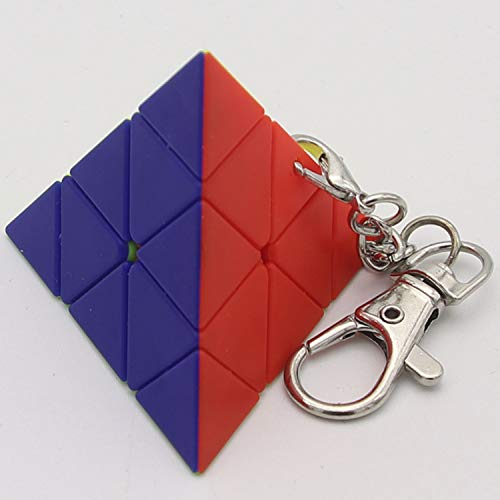 MEIJUAN Keychain Small Cube Pendant Second-Order Third-Order Cylinder Maple Leaf Pyramid Children Fun Smooth Small Toys