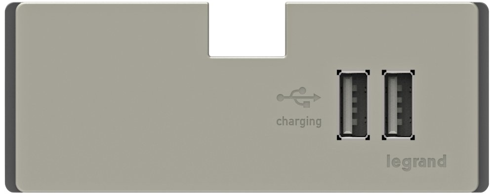 adorne titanium 2port usb electronic charger module under counter light mounting accessories amazoncom