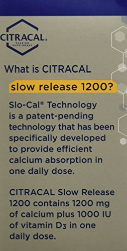 Citracal Citracal Calcium Plus D Slow Release 1200, 80 tabs (Pack of 3)