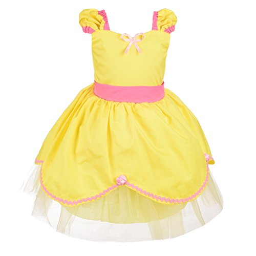Dressy Daisy Girls Princess Belle Dress Costume Summer Dress up Size 3T / 4T by Dressy Daisy