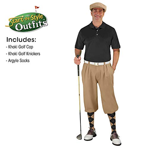 Golf Knickers Start-in-Style Outfit - Mens - Khaki - Size 34