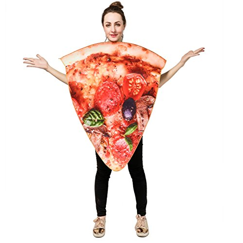 DSplay Unisex Adult Pizza Food Costume OneSize (Slice Pizza) ()