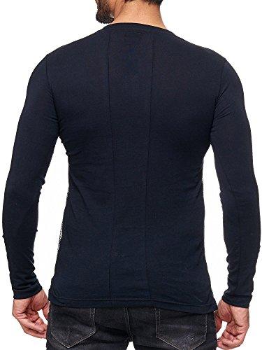 Shirt shirt Sweat Longues Noir Motif Pull Bridge Red Manches Homme 8qwnxU8R7
