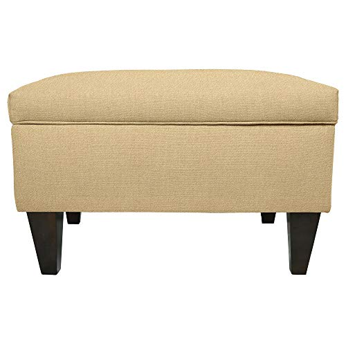 MJL Furniture Brooklyn Dawson-7 Upholstered Square-Legged Box Storage Ottoman ()