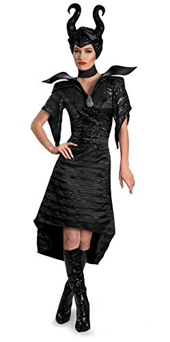71833 Ladies Small 4-6 Black Christening Gown Glam Adult Maleficent Costume ()