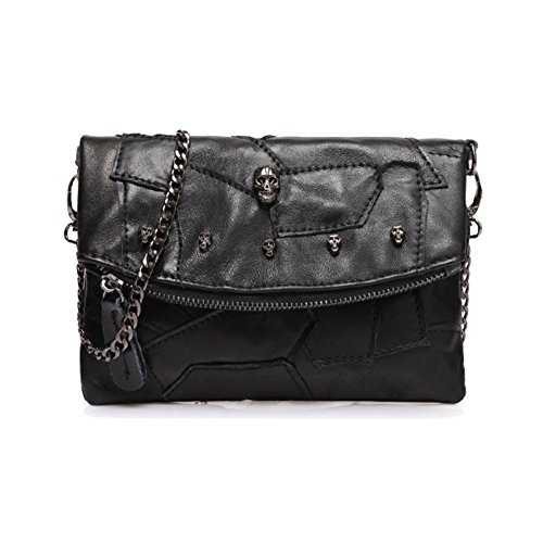 Walcy Genuine Leather Punk / Rock Women's Handbag,Square Cross-Section Splicing Packet - Nordstrom Womens Sunglasses