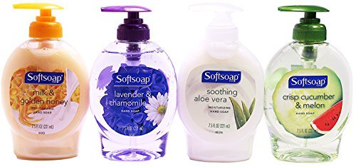 Softsoap Liquid Moisturizing Hand Soap Variety Set, 7.5 Ounce (Milk and Golden Honey, Soothing Aloe Vera, Crisp Cucumber and Melon, Lavender and (7.5 Ounce Softsoap)