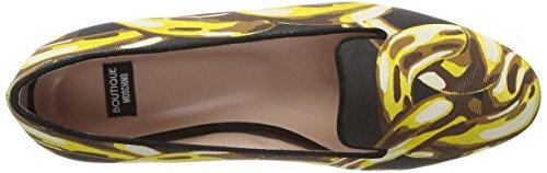 Moschino Spot Slipper Cut - talón cerrado de cuero mujer negro - Black (CG000A Blk/Gold)