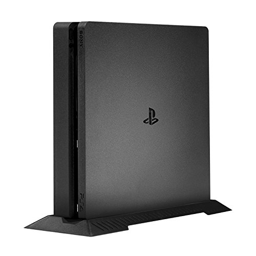 Textured Center Finish (Younik PS4 Slim Vertical Stand for Playstation 4 Slim with Built-in Cooling Vents and Non-Slip Feet)