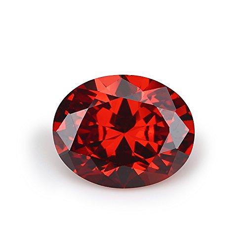 50PCS 8x10mm AAAAA Oval Garnet Loose CZ Stones Cubic Zirconia Synthetic Gemstone (8x10mm 50pcs) by WUZHOUGEMS