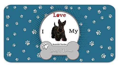 Bleu Reign Personalized Custom Name I Love My Dog Scottish Terrier 12