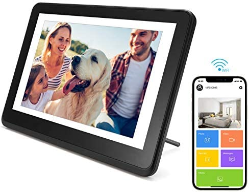 Digital Picture Frame WiFi Digital Photo Frame YEEHAO 1920x1080 Touch Screen, Support Thumb USB Drive and SD Slot, Music Player, Share Photos and Videos by way of APP, Cloud, Email(8 inch)