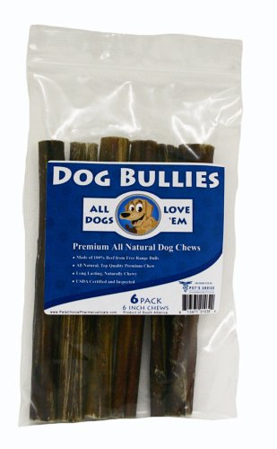 Bully Pizzle, 6 Inch 6 Pk