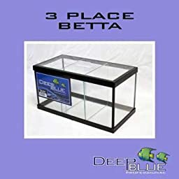 Deep Blue Professional ADB11003 Glass Standard 3-Way Betta Aquarium Tank Kit, 1.9-Gallon