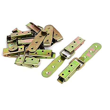 eDealMax caso de madera 80mmx33mmx13mm 8pcs amarillas zinc ...