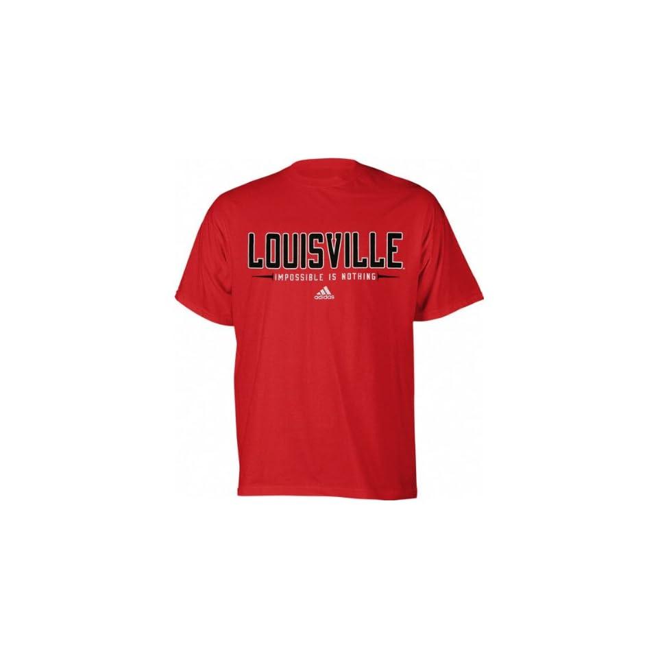 Louisville Cardinals Red Adidas Half Moon T Shirt