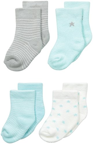Price comparison product image Petit Lem Baby-Boys Newborn Mint 4 Pack Socks,  Mint,  6 Months / 9Months